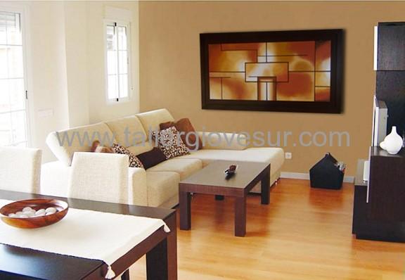 Taller giovesur cuadro moderno para el living o sal n - Cuadros para salones minimalistas ...