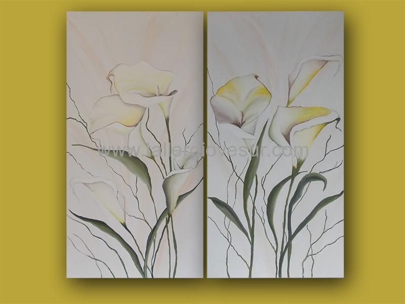 Cuadro con flores eloisa cf 1009 pintado a mano cuadros modernos pintados a mano - Cuadros para dormitorios modernos ...
