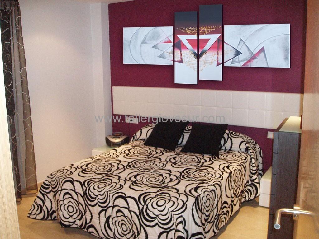Cuadro abstracto melisa ab 1054 pintado a mano - Cuadros dormitorio modernos ...