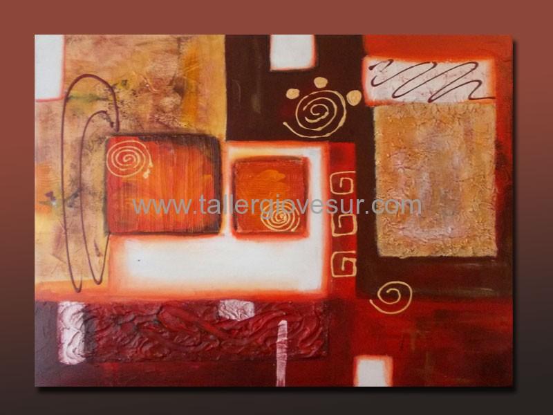 Cuadro abstracto pamela ab 1014 pintado a mano for Cuadros abstractos modernos para comedor