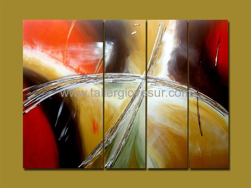 Cuadro abstracto santiago ab 1026 pintado a mano - Ideas para pintar cuadros ...