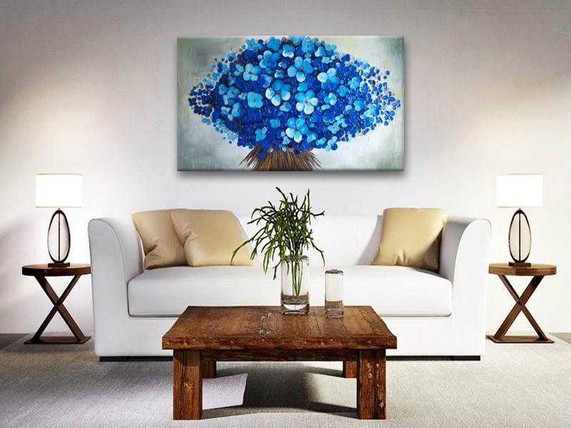 Cuadro Moderno Con Flores Graciela Cf 1016 Arte Moderno - Cuadros-modernos-salon