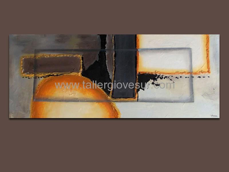 Cuadro abstracto leo ab 1007 pintado a mano cuadros for Fotos de cuadros abstractos minimalistas