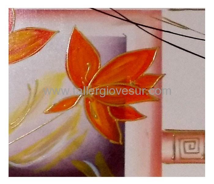Cuadro Con Flores Marta Cf 1018 Pintado A Mano Cuadros