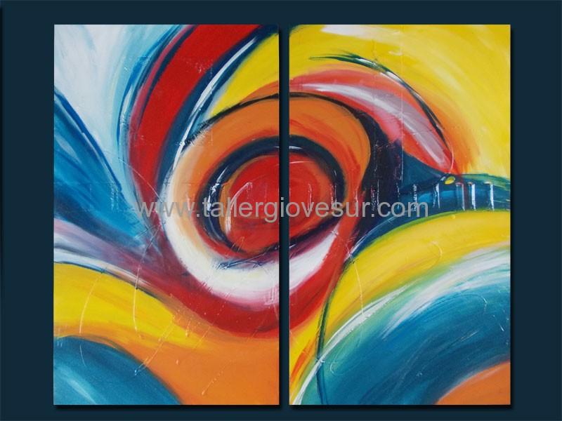 Cuadro abstracto valeria ab 1035 pintado a mano for Fotos de cuadros abstractos sencillos